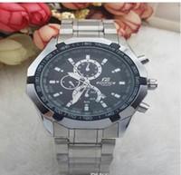 relógios mens grande banda venda por atacado-2018 Quartz Big Bang Esportes Mens Relógios Big Dial Display Top Marca de luxo relógio Cassio Assista Aço Banda Moda relógios de pulso para homens CSO