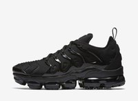 Wholesale Classic Lighting Products - New Products Men Vapormax TN Plus Running Shoes Classic Outdoor Run Shoes Vapor tn Black White Sport Shock Sneakers With Box
