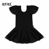 Wholesale Gymnastic Costumes - Girls Gymnastics Leotard Dress Clothing Kids Dancewear Fairy Party Costume for Ballet Dance Performing or Fancy Dress Party