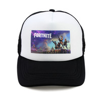 4f8cbadfc9f04 Wholesale funny hat cap for sale - Game Fortnite Baseball Cap White Colored  Cartoon Print Snapback