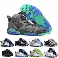 blue suede shoes à vendre achat en gros de-2017 haute qualité air 6 VI mans chaussures de basket-ball colère taureau Carmine infrarouge Oreo BlancInfared Noir sport bleu Olympique Vente baskets