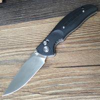 ingrosso y inizio coltelli-Y-START Jin02-BK Coltello pieghevole Sopravvivenza esterna Coltello da tasca EDC Lama D2 Nero G10 Maniglia Blocco asse