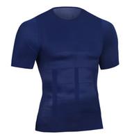 vücut şekillendiren erkekler toptan satış-Hotsale Erkekler Şekillendirme Ultra Ter Termal Kas Gömlek Neopren Göbek Ince Korse Karın Kemer Shapewear Yelek vücut Şekillendirici Göbek Tops