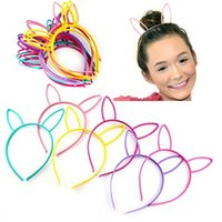 Wholesale tiara cat ears - Character Headbands For Children Adult Cat Bunny Rabbit Ear Princess Tiaras Hair Sticks Accessories Multicolored Party Favors Gifts HH7-441