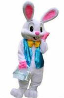 ingrosso coniglietto di pasqua adulti-2018 New Easter Bunny Mascot Costume Coniglio Cartoon Fancy Dress adulto