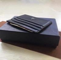 ingrosso piccolo portafoglio sottile-Portafoglio porta carte di credito nero classico Portafoglio porta carte sottile in vera pelle Star MB Designer Portamonete portamonete