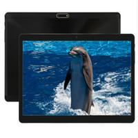 таблетка оптовых-10-дюймовый 3G планшетный ПК 1280 * 800 4GB RAM 64GB ROM двойная SIM-карта камеры IPS GPS Octa core 2.5 D очки Android 7. Таблетки