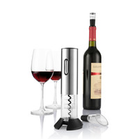 kit de corcho al por mayor-Abrelatas de vino eléctrico Botella de vino automática Kit de apertura de corcho Sacacorchos portátil Inalámbrico con cortador de papel de aluminio Tapón de vacío