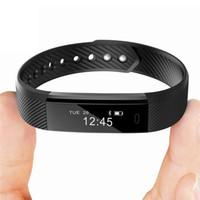 ingrosso orologi di attività wireless-Bracciale intelligente Banda Fitness Tracker Guarda Wireless touch screen del sonno Activity Monitor Contapassi Calorie Distanza per Android Iosc