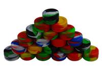mini ecig tops achat en gros de-Top qualité Silicone Non-bâton Cire Conteneurs De Qualité Alimentaire 3 ml 5 ml 7 ml Mini Jar Dab Waxy Bocaux Concentré Cas FDA approuvé ecig boîte