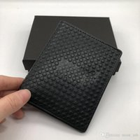 Wholesale japan cartoon hot resale online - Luxury Fashion M B Hot Leather Men s Business Short Wallet MT Purse Cardholder Wallet MB Upscale Gift Box ID Card Holder High Quality
