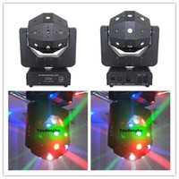 Wholesale laser lights moving heads - 2 pieces Lnno Pocket 16x3w rgbw Beam + Red Green Laser Light + 4x15w Strobe LED Disco 3in1 Moving Head Lights