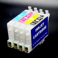 ingrosso cartuccia d'inchiostro della stampante epson-1 Set / lotto HYD T0601 T0602 T0603 T0604 Cartuccia di inchiostro a 4 colori Set di ricarica per stampante a getto d'inchiostro Epson C68 C88 + CX7800 CX4200, con chip permanente