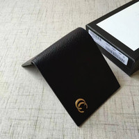 Wholesale Elegant Clutches - 2017 new designer men fashion Wallets High quality small purses card holder with double g hardware simple and elegant