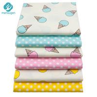 stoff für baby-steppdecken großhandel-50 cm * 160 cm Cartoon Eis Baumwollgewebe Für Patchwork Quilts Kleider Nähen Baby BettwäscheTextile Und Quilten Handwerk Material