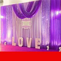 3m veil cetim venda por atacado-10ft * 20ft Festa de Casamento Celebração Celebração Fundo Cetim Cortina Drape Pilar Teto Pano de Fundo casamento decoração Véu 3 M * 6 M