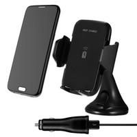 iphone için emiş aparatı toptan satış-10 W Hızlı Şarj Qi Kablosuz Araç Şarj Şarj Pad iphone X 8 8 Artı Samsung S9 S8 S7 S6 Not 8 Araba Emme Dağı Standı