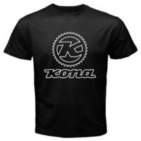 Wholesale bicycle print shirt - New Kona Bicycle Mountain Bike Logo Men's Black T-Shirt Size S to 3XL