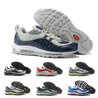 Wholesale mens baseball style for sale - New Top s stripe Navy blue white Gundam style Best Quality mens Casual Running Shoes Sport Discount Sneakers Size