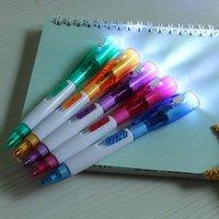 luz da noite de publicidade venda por atacado-A leitura da noite da Multi-Função pode ser iluminação iluminada Pen Small Ballpoint Pen