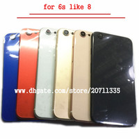 iphone milieu couverture arrière achat en gros de-NOUVEAU Pour iPhone 6S Comme 8 Style 8 PLUS Couverture arrière arrière Logement de la batterie Porte Châssis Cadre moyen