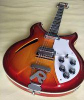 Wholesale Fretboard Inlays - Custom RIC Fire Glo Vintage Sunburst 330 360 12 Strings Semi Hollow Body Electric Guitar Triangle MOP Fretboard Inlay, Sandwich Neck
