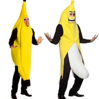 carnaval vestido homem venda por atacado-Homens Cosplay Adulto Traje Do Festival Roupas Engraçadas Sexy Banana Traje Da Novidade do Dia Das Bruxas Natal Festa de Carnaval Vestir-se