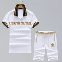 Wholesale foreign short sleeve - F04 embroidery men t-shirt fashion Product Spring And Summer Body Short Sleeve Show Solicitude Foreign Trade Round Neck European