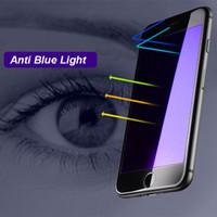 verres trempés iphone complet achat en gros de-5D Full Cover Screen Protector verres trempés Film Anti Blue Light Nano Antidéflagrant pour iphone8 7plus 6S 6S Plus 4.7 5.5