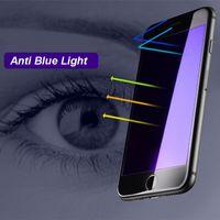 temperli gözlük dolu iphone toptan satış-5D Tam Kapak Ekran Koruyucu Temperli gözlük Filmi Anti Mavi Işık Nano patlamaya dayanıklı iphone8 için 7 artı 6 S 6 S Artı 4.7 5.5