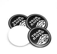 auto-legierung zentrum großhandel-Hohe Qualität 56,5mm 4x4 TRAIL RATED Auto Styling Aluminiumlegierung Zentrum Rad Abdeckung Kennzeichnung Emblem Auto Aufkleber Abzeichen
