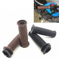 руль рукоятка дроссельной заслонки оптовых-for CG125 Rubber Motorcycle Handle Bar End Grips Universal Motorcycle Accessories Retro Scooter Throttle Handlebar Grip 22mm