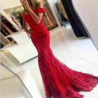 Wholesale Two Piece Dresses Fast Shipping - Sweetheart neck 2018 Sexy Fashion Evening Dresses Beaded Appliques Lace Long Mermaid Evening Party Gown Fast Shipping