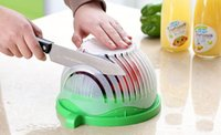 Wholesale toy washer for sale - Home Creative Second Salad Bowl Salad Fruit Vegetable and Cutter Quick Salad Maker Chopper Cutter Washer Easy