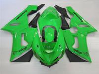 Wholesale Kawasaki Bike Fairing Zx6r - New ABS Motorcycle bike Fairing Kits Fit For KAWASAKI Ninja ZX6R 636 05 06 ZX 6R 2005 2006 zx6r 05 06 Fairings set green color
