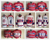 Wholesale Ken Dryden Jersey - Throwback Ice Hockey Jersey 18 Denis Savard 27 Alexei Kovalev 29 Ken Dryden 4 Jean Beliveau Vintage Winter Classic Hockey Jersey