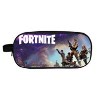 Wholesale office shoulder bag - 19 styles fortnite Pencil Bags battle royale bag trousse Box Pen Case Kids School purse Children Boy Office Supplies 19 styles wallet 10pcs