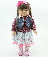 çeşitli hediye toptan satış-Çeşitli Stil Amerikan kız bebek 18 inç Yüksek kalite tam vinil Bebek Peri Oyuncaklar DIY Amerika Prenses Çocuk Bebek doğum günü Xmas için hediyeler