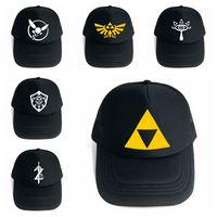 Wholesale zelda costumes for sale - Group buy The Legend of Zelda Baseball Hat Styles Game Anime Symbol Mesh Trucker Cap Cosplay Costume Party Hats OOA5483