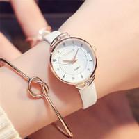 арабские модные платья для женщин оптовых-Women Ladies Watches Quartz Wristwatch  Girl's Gift Fashion Casual Watch Retro Design Dress Simple Arabic numerals Dial 4A