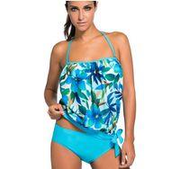 ingrosso bikini trasporto libero xxl-Le donne all'ingrosso camikini costumi da bagno di moda imposta bikini spiaggia due pezzi costumi da bagno di colore solido ordine della miscela S M L XL XXL XXXL spedizione gratuita E150