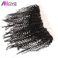 Wholesale lace frontal for sale - Group buy Allove A Brazilian Hair Weave Lace Frontal Curly Weave Ear to Ear Lace Frontal Malaysian Lace Frontal Peruvian Indian Virgin Hair