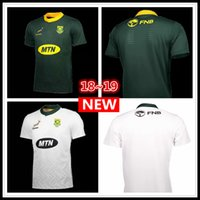Wholesale national africa - 2018 2019 South Africa Home and away Jersey shirt Springboks South African national team rugby jerseys shirts s-3xl
