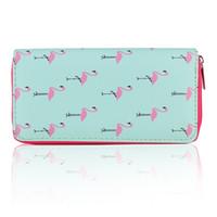 ingrosso borse a forma di frutta-Flamingo Pineapple Fruit Women Portafoglio 3D stampa Cactus Coin Bag Partito Make up Borsa grande capacità PU cuoio frizione borsa