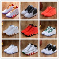 Wholesale white confetti - Irving 4 CNY EP Men Basketball Shoes Irving IV all star Fall foliage mens trainer BHM Confetti Obsidian Black White Sneakers 40-46