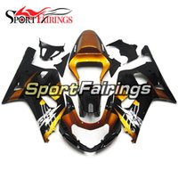 carenados de oro al por mayor-Gold Black Good Quality Hulls para Suzuki GSXR600-750 K1 2000 - 2003 Complete Fairings ABS Injection Motos Carenados