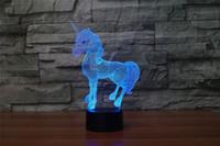 lámparas de globo al por mayor-Envío de alta calidad de regalo de Halloween DC 5V USB Powered Heart Balloon Pattern LED Light 3D Illusion Lamps