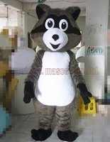 ingrosso vendite di giocattoli adulti-La dimensione adulta di trasporto del costume della mascotte del procione, il partito di lusso di carnevale del giocattolo della peluche della mascotte del coon celebra le vendite della fabbrica della mascotte.