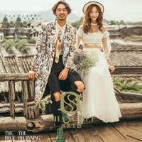 trajes de anime gintama al por mayor-Vacaciones de bodas japonesas Pareja Traje Novio Traje de boda Anime s Japanese Gintama Especialmente traje de la novia de Cosplay