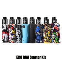 eco batterien großhandel-100% Original Dampfsturm ECO RDA Starter Kit 90 Watt 18650 Batterie Graffiti Box Mod Lion RDA Vape Kits